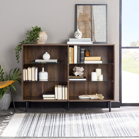 Nora Glass Shelf Bookcase
