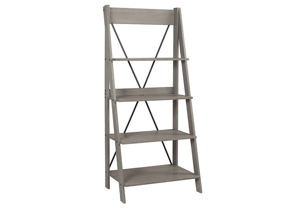 Solid Wood Ladder Bookshelf 68""