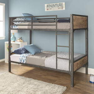 Rustic Home Twin Bunk Bed