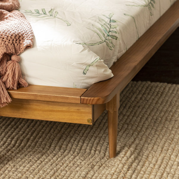 Spindle Back Solid Wood Twin Bed