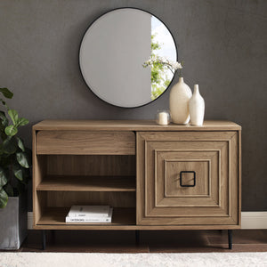 Serena Square Detail Sliding Door Sideboard