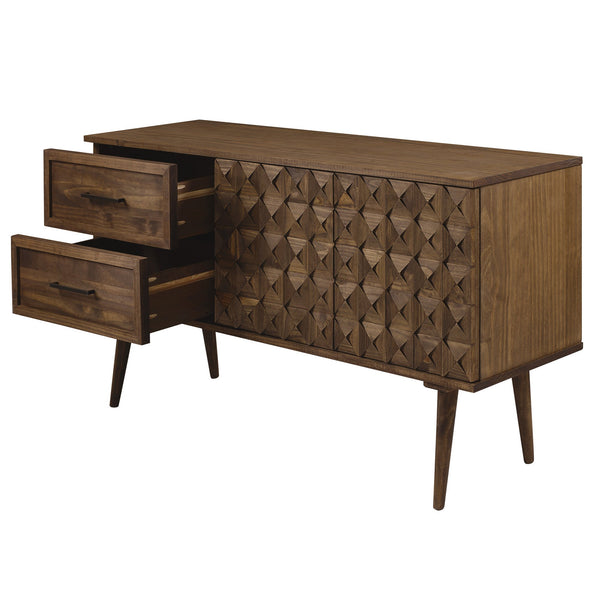 Tessa Solid Wood Prism Sideboard