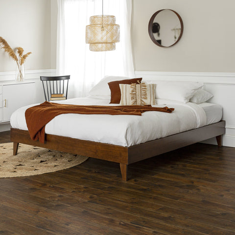 Solid Wood Platform King Bed