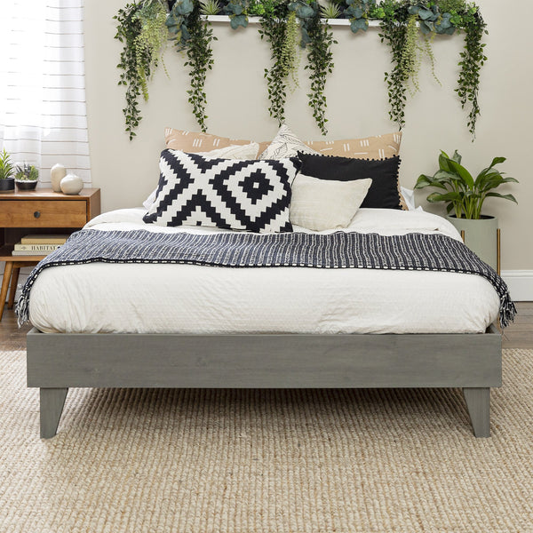 Solid Wood Platform Queen Bed