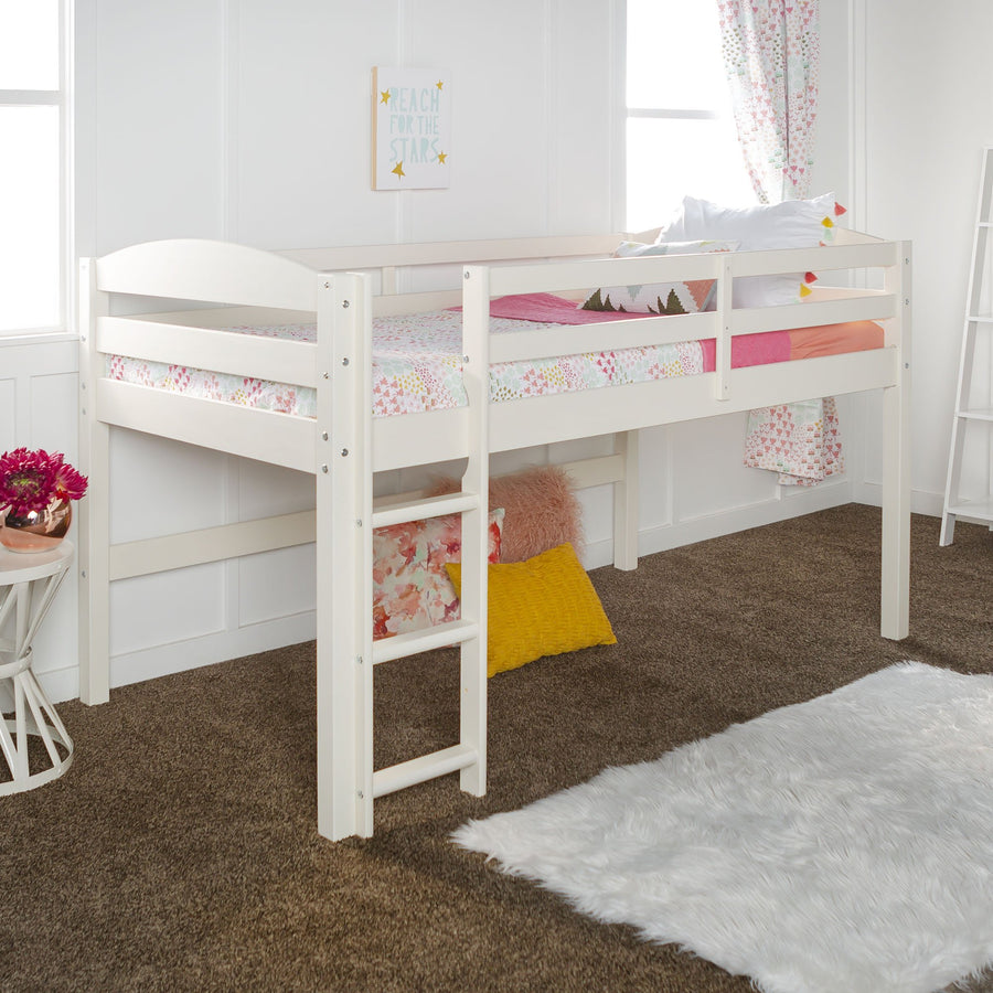 Low Loft Twin Bunk Bed