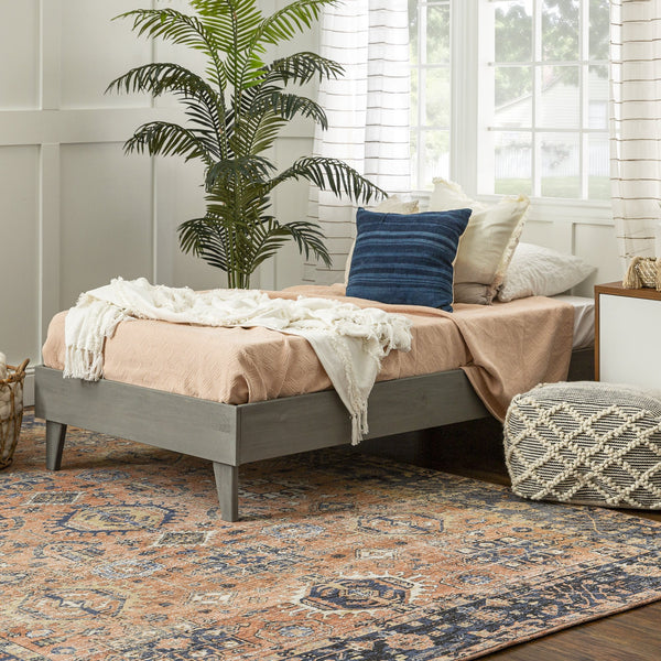 Solid Wood Platform Twin Bed