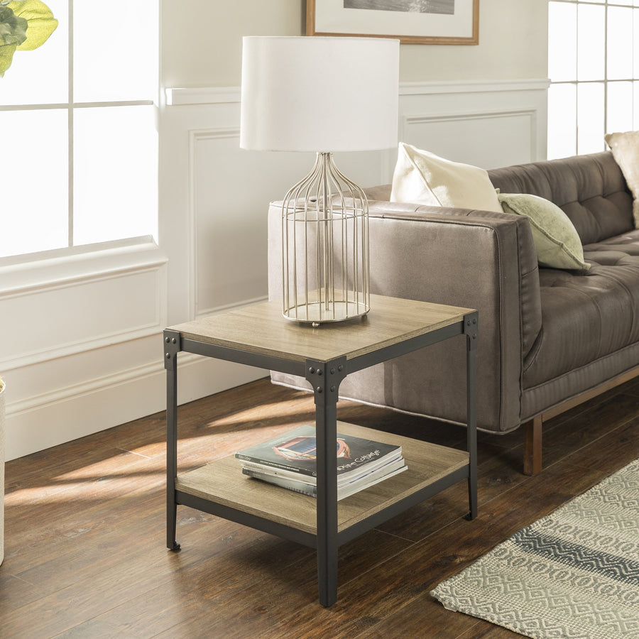 Angle Iron Rustic End Table