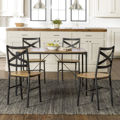 Angle Iron 5 piece Dining Set