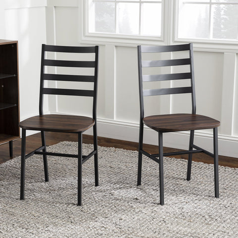 Slat Back Dining Chair, Set of 2