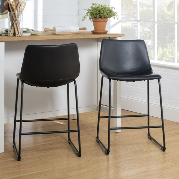 Faux Leather Counter Stools