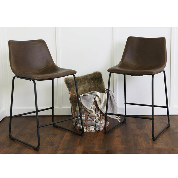 Faux Leather Barstool