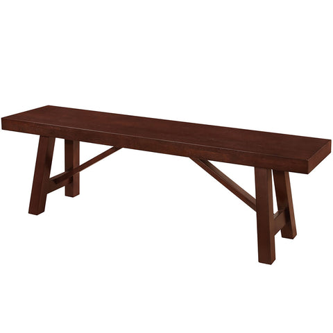 Trestle Style Wood Dining Bench