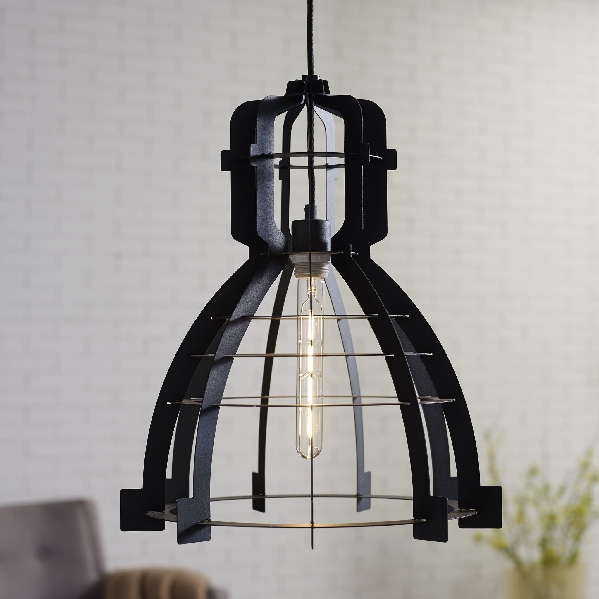 Factory Slice Pendant Light in Black