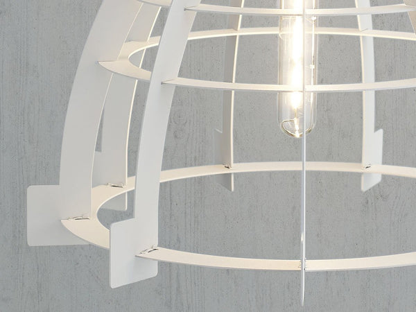 Factory Slice Pendant Light in White