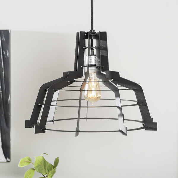 Edge Slice Pendant Light in Black
