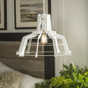 Edge Slice Pendant Light in White