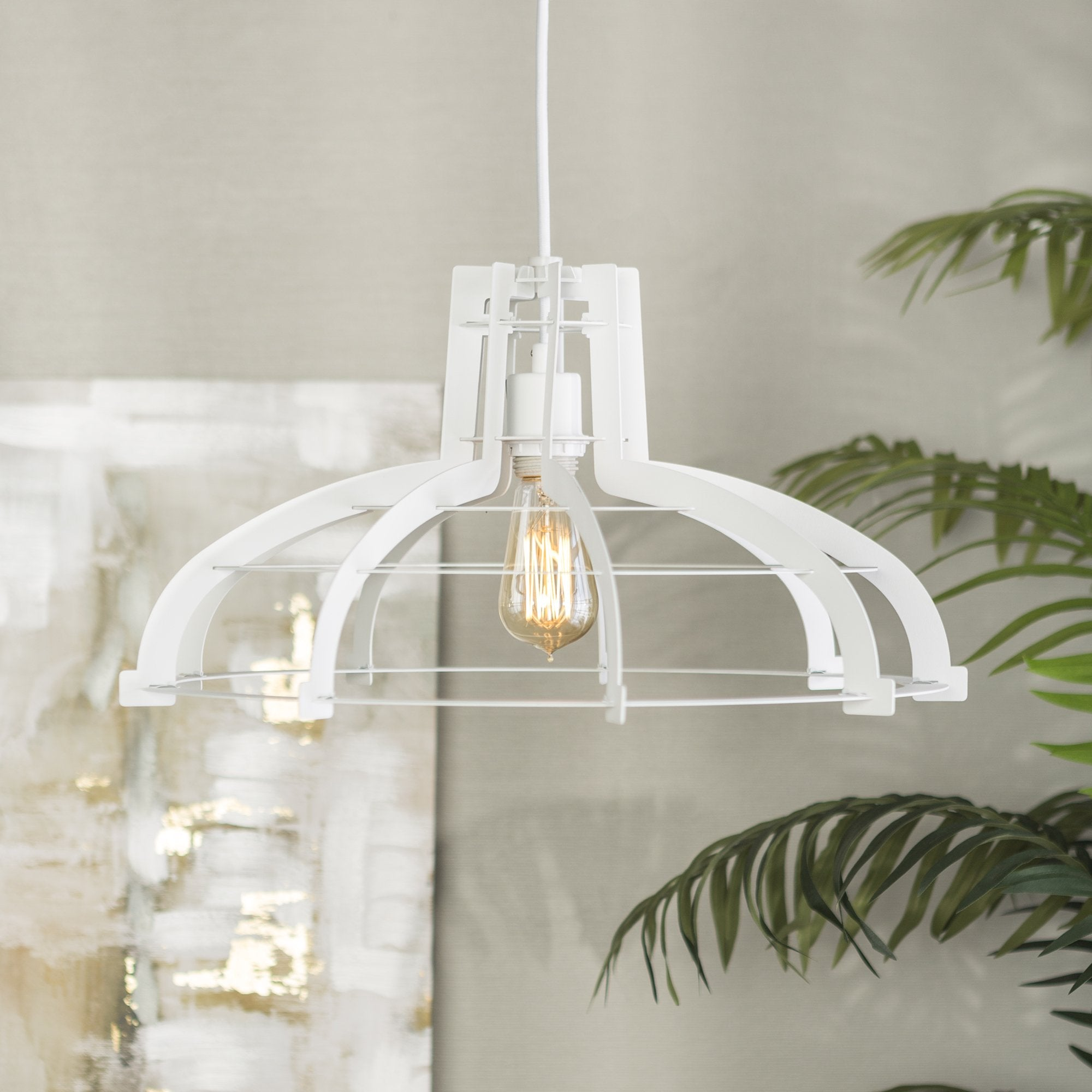 Classic Slice Pendant Light in White