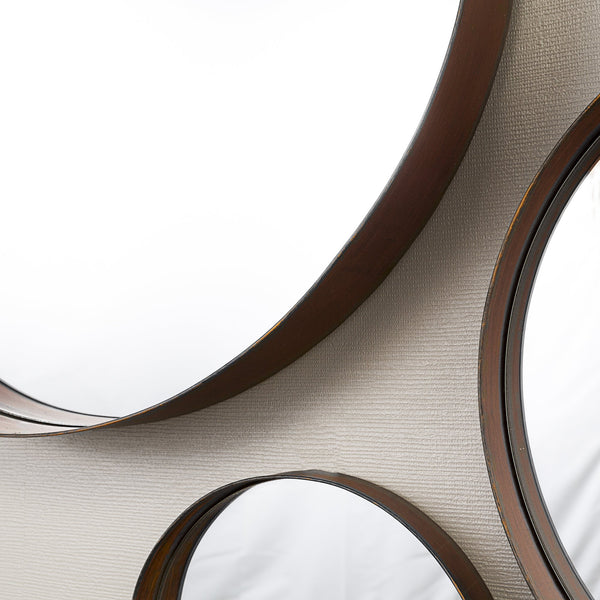 Round Copper Banded Mirrors