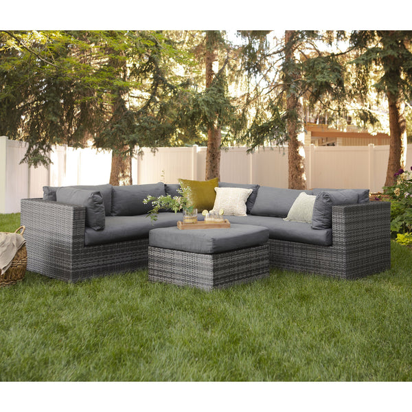 4-Piece Rattan Sectional