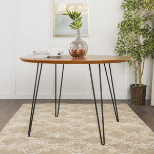 Round Hairpin Dining Table