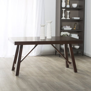 Trestle Style Wood Dining Table