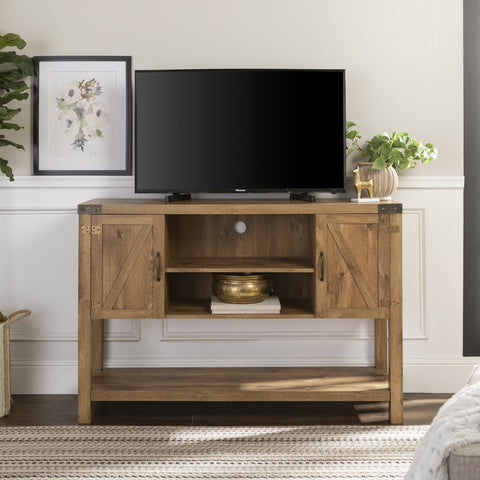Tall Barn Door TV Console