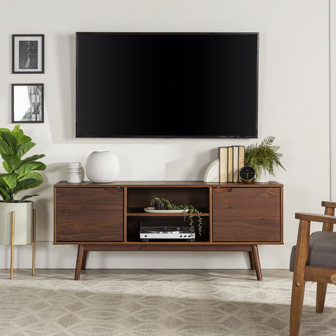 Adair 2 Door Solid Wood TV Console
