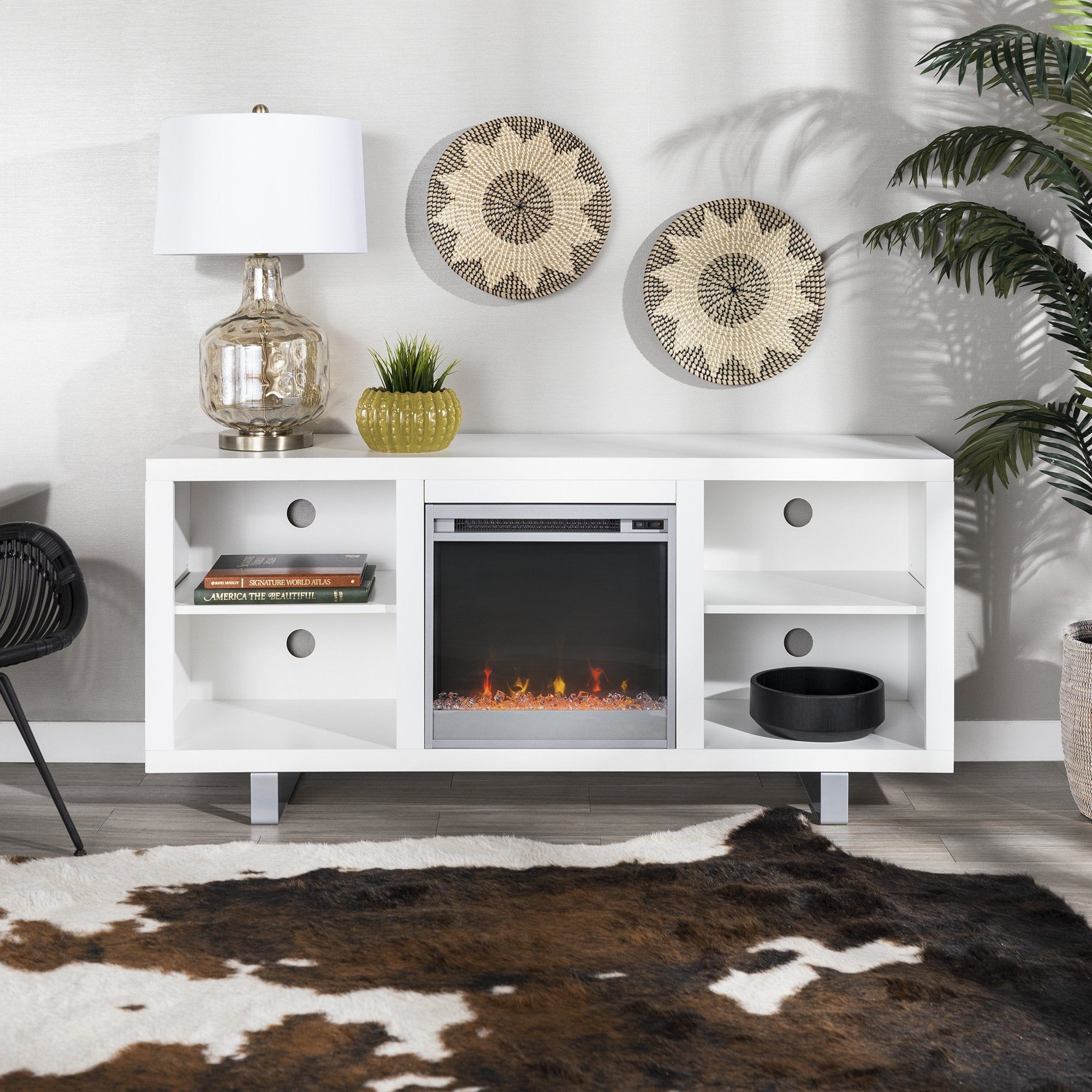 Simple Modern Fireplace Console