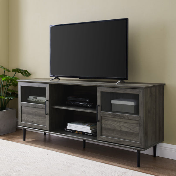 Owen Glass and Wood TV Console