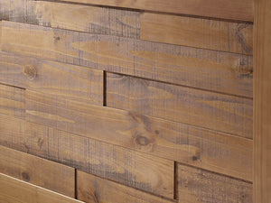 Plank Distressed Solid Wood Queen Bed