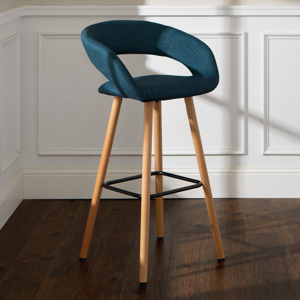 "Modern 29"" Curved Open Back Bar Stool"