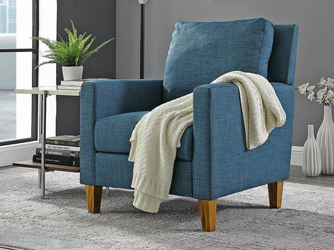 Transitional Pillow Back Chair