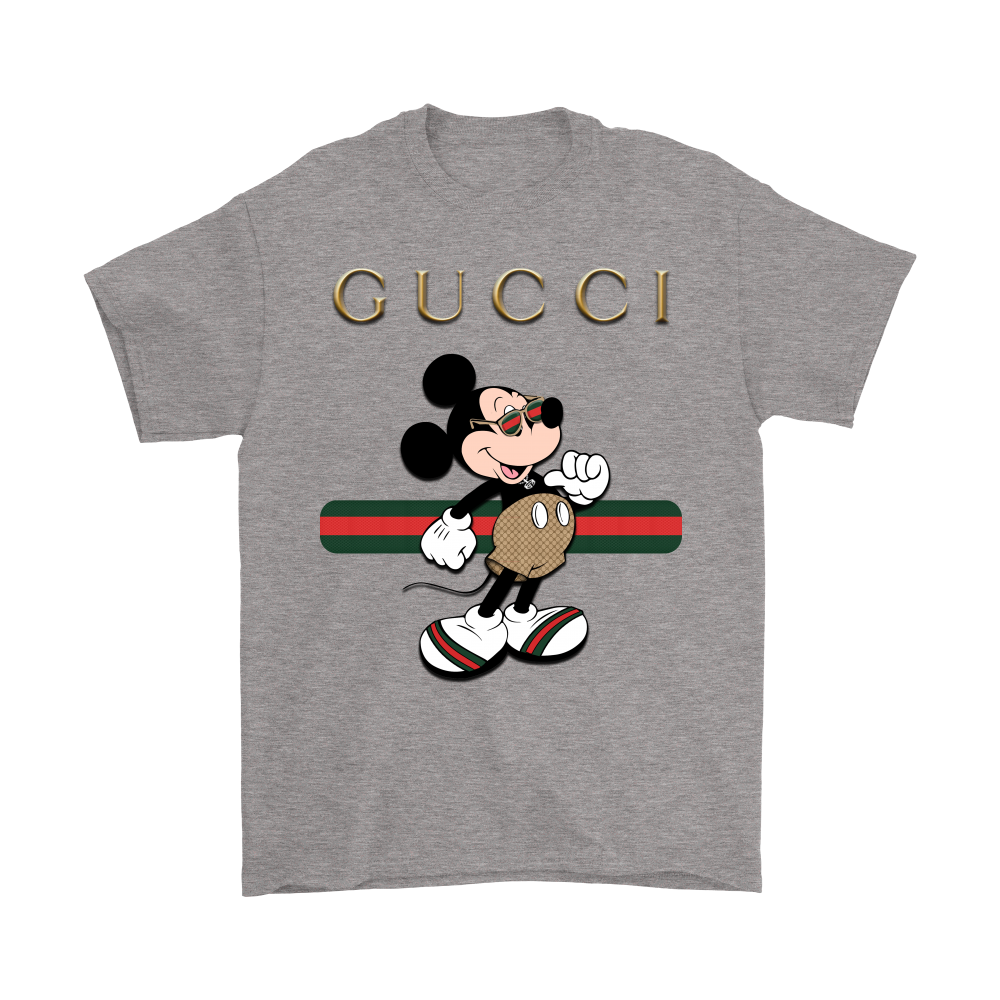 gucci stripe mickey mouse stay stylish shirts teeqq. Black Bedroom Furniture Sets. Home Design Ideas