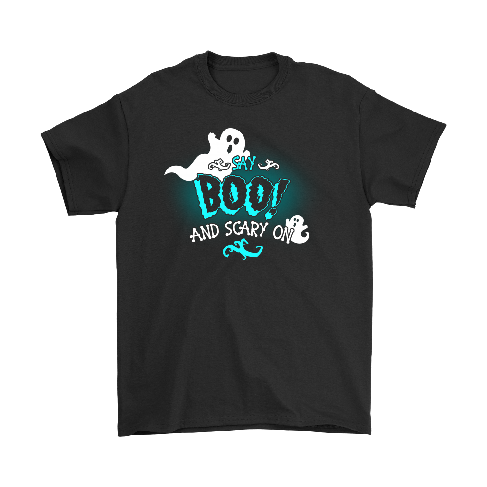 Awesome Halloween   Say Boo And Scary On Shirts