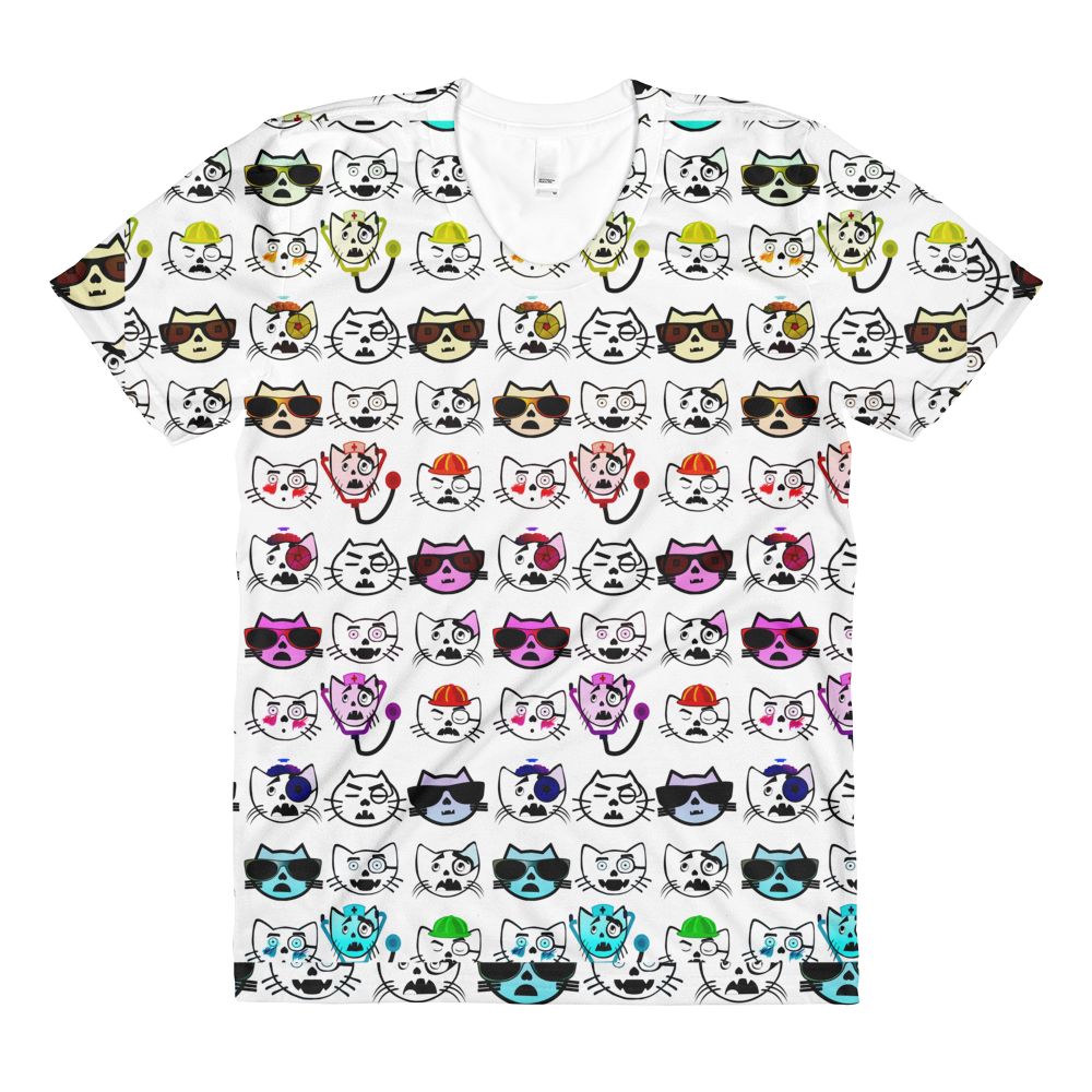 Sublimation women's crew neck t-shirt