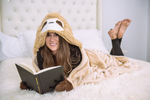 Thnapple Slothy Sloth Wearable Hooded Blanket - FREE SHIPPING