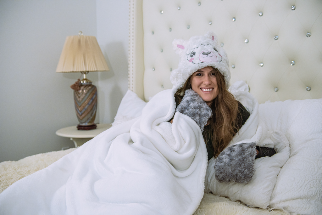 Alpaca Llama Wearable Hooded Blanket - FREE SHIPPING