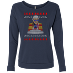 Marvin Zindler Ugly Christmas Sweater - Ladies' French Terry Scoop