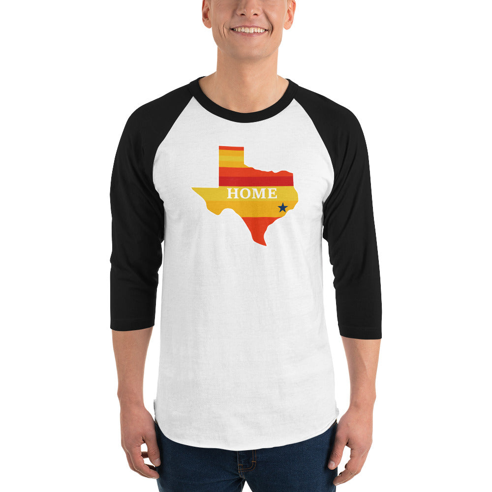 Houston is Home. Go 'Stros Unisex 3/4 sleeve raglan shirt