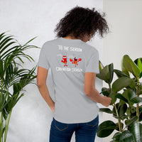 Crawfish Boil Mudbugs Season Front and Back Design - Short-Sleeve Unisex T-Shirt
