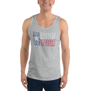 Texas Flag made of Crawfish - Unisex Tank Top
