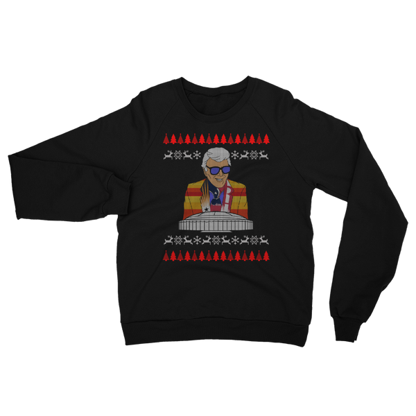 Marvin Zindler Ugly Christmas Sweater - Unisex California Fleece Raglan Sweatshirt