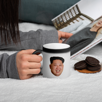Kim Jong-un Color Changing Mug - Matte Black Magic Mug
