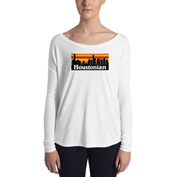 Houstonian Houston Astros Colors Ladies' Long Sleeve Tee