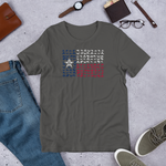 Texas Flag made of Crawfish - Short-Sleeve Unisex T-Shirt