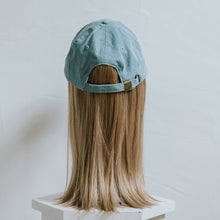 Denim Cap with Partial Halo Wig - Gorgeous You, Dear Martha