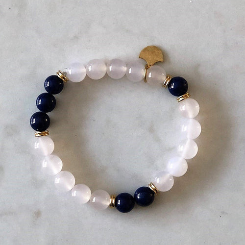 Lapis Lazuli Stretch Bracelet - Gift For Someone Living with Cancer
