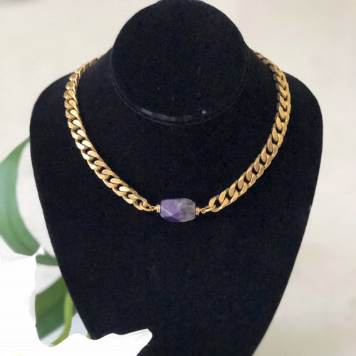 Amethysti Choker - Beautiful Meaningful Gift For Those Suffering From Cancer
