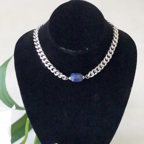 Lapis Lazuli Choker - Gift For Someone Living with Cancer