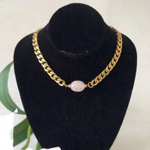 Rose Quartz Choker - Gift For Someone Living with Cancer